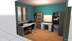 Raumgestaltung Juli Lernzimmer in der Kategorie Arbeitszimmer