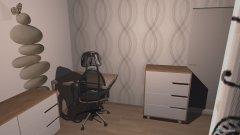 Raumgestaltung Kleines Zimmer 2 in der Kategorie Arbeitszimmer