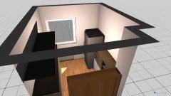 Raumgestaltung kleines Zimmer unten in der Kategorie Arbeitszimmer
