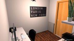 Raumgestaltung Leonard Arbeitszimmer in der Kategorie Arbeitszimmer