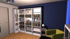 Raumgestaltung Lesezimmer in der Kategorie Arbeitszimmer