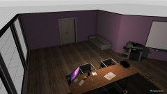 Raumgestaltung modernes Arbeitszimmer in der Kategorie Arbeitszimmer