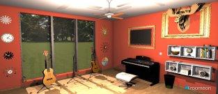 Raumgestaltung Music Room in der Kategorie Arbeitszimmer