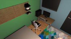 Raumgestaltung Nizar´s zimmer grundriss in der Kategorie Arbeitszimmer