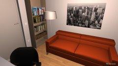 Raumgestaltung Penthouse Rosengarten Arbeitszimmer in der Kategorie Arbeitszimmer