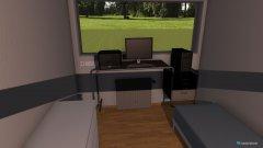 Raumgestaltung Schlaf-Büro in der Kategorie Arbeitszimmer