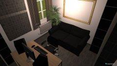 Raumgestaltung studio mit kabine in der Kategorie Arbeitszimmer