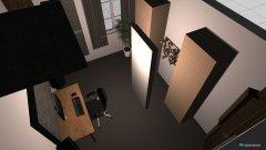 Raumgestaltung Studio ohne Schränke in der Kategorie Arbeitszimmer