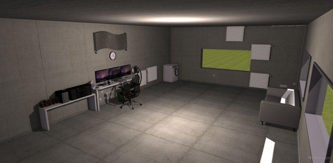 Raumgestaltung TimsHouse1 in der Kategorie Arbeitszimmer