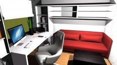 Raumgestaltung Tobi Lina Gast Büro in der Kategorie Arbeitszimmer
