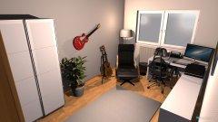 Raumgestaltung Tobis Arbeitszimmer in der Kategorie Arbeitszimmer