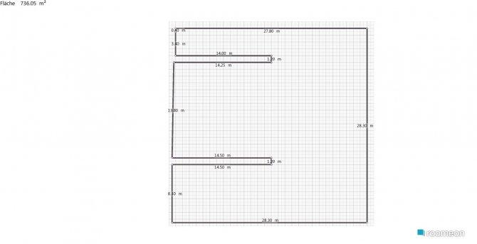 Raumgestaltung Trumwohnung in der Kategorie Arbeitszimmer