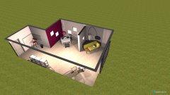 Raumgestaltung Vorraum in der Kategorie Arbeitszimmer