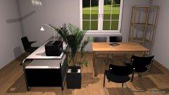 Raumgestaltung VorstandszimmerArbeitsplatz in der Kategorie Arbeitszimmer