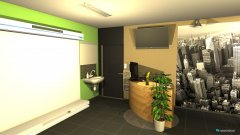 Raumgestaltung Werkstatt mit Durchbruch in der Kategorie Arbeitszimmer