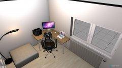 Raumgestaltung WOHN ARBEITS ZIMMER in der Kategorie Arbeitszimmer