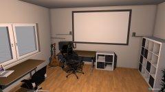 Raumgestaltung Wohn-Arbeitszimmer in der Kategorie Arbeitszimmer