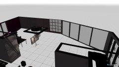 Raumgestaltung wohnschlafbürozimmer in der Kategorie Arbeitszimmer