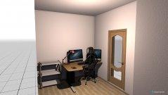 Raumgestaltung Wohnzimmer brauner Kachelofen in der Kategorie Arbeitszimmer
