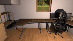 Raumgestaltung Zimmer-Schreibtisch in der Kategorie Arbeitszimmer