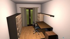 Raumgestaltung Zimmer1-Arbeitszimmer in der Kategorie Arbeitszimmer
