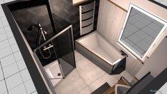 Raumgestaltung 6,28m² Badezimmer_Version_2 in der Kategorie Badezimmer