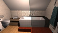Raumgestaltung Bad Dachboden in der Kategorie Badezimmer
