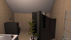 Raumgestaltung Bad Eltern V2 in der Kategorie Badezimmer