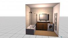 Raumgestaltung Bad getrennt in der Kategorie Badezimmer