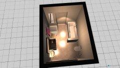 Raumgestaltung Bad groß in der Kategorie Badezimmer