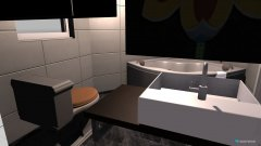 Raumgestaltung Bad hinten in der Kategorie Badezimmer