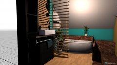 Raumgestaltung Bad mit runder Wanne in der Kategorie Badezimmer