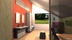 Raumgestaltung Bad mit Schräge  in der Kategorie Badezimmer