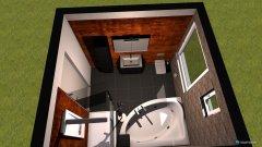 Raumgestaltung Bad mit Wellnes Badewanne in der Kategorie Badezimmer
