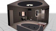 Raumgestaltung bad modern in der Kategorie Badezimmer