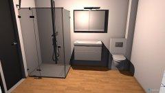 Raumgestaltung bad nur mit dusche in der Kategorie Badezimmer