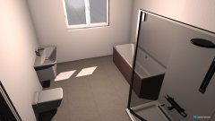 Raumgestaltung Bad oben verlegt in der Kategorie Badezimmer