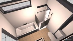 Raumgestaltung Bad offen kleines Fenster in der Kategorie Badezimmer