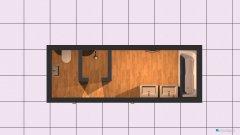 Raumgestaltung Bad OG Grundriss aufgeteilt in der Kategorie Badezimmer