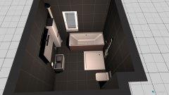 Raumgestaltung bad unten, Variante 2 in der Kategorie Badezimmer