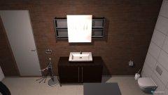 Raumgestaltung Bad Variante 1 in der Kategorie Badezimmer