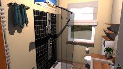 Raumgestaltung Bad Vorlage Duscheinbau in der Kategorie Badezimmer