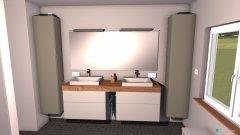 Raumgestaltung Bad Wand halbhoch in der Kategorie Badezimmer