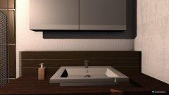 Raumgestaltung Bad zu Hause in der Kategorie Badezimmer