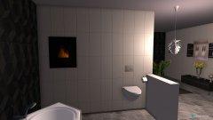 Raumgestaltung Badezimmer modern schwarz weiß  in der Kategorie Badezimmer