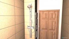 Raumgestaltung Badezimmer sand und grau in der Kategorie Badezimmer