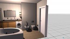 Raumgestaltung Badezimmer Tür links in der Kategorie Badezimmer