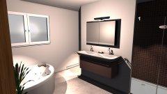 Raumgestaltung BadMarmorboden Eckwanne2 in der Kategorie Badezimmer
