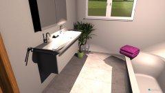 Raumgestaltung BadMarmorboden T-Wandwanne in der Kategorie Badezimmer