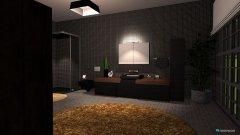 Raumgestaltung Black & wood in der Kategorie Badezimmer